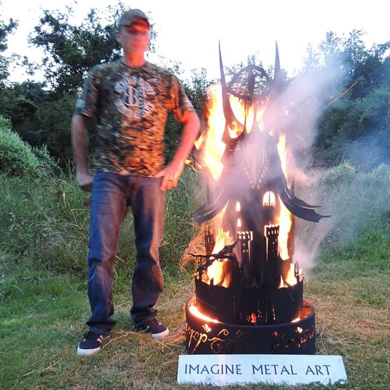 Imagine Metal Art Fire Pit Eye Tower Metal Works