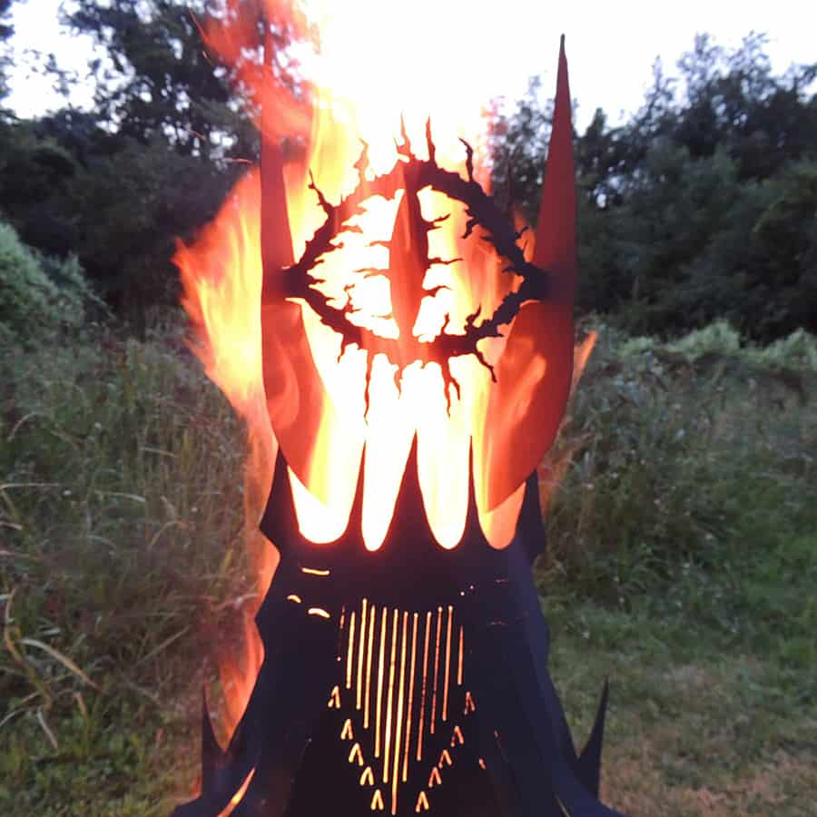 Imagine Metal Art Fire Pit Eye Tower Outdoor