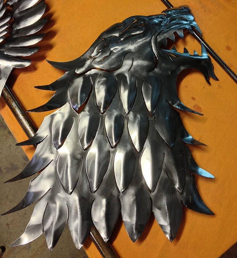 ImagineMetalArt House of Stark Wolf Plaque Metal Works