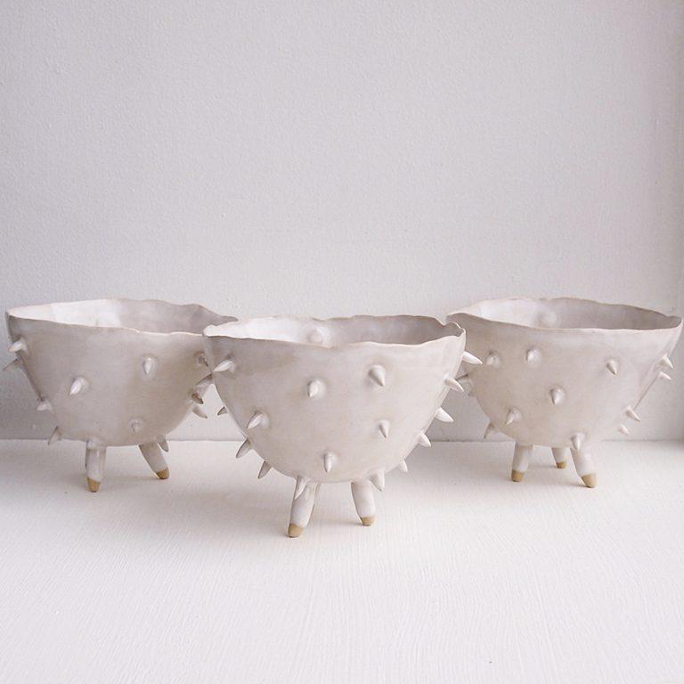 Kabinshop Ceramic Spiky Cactus Planter bowl