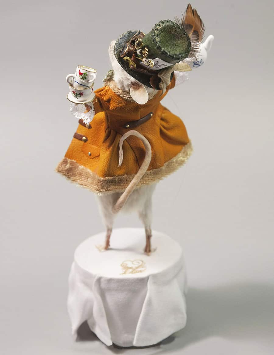 Le Heart Mad Hatter Taxidermy Mouse Real Mouse