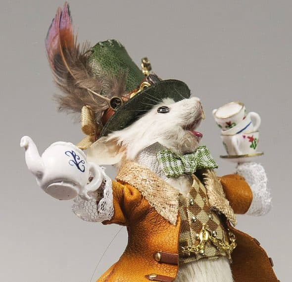 Le Heart Mad Hatter Taxidermy Mouse Unique Gift Idea