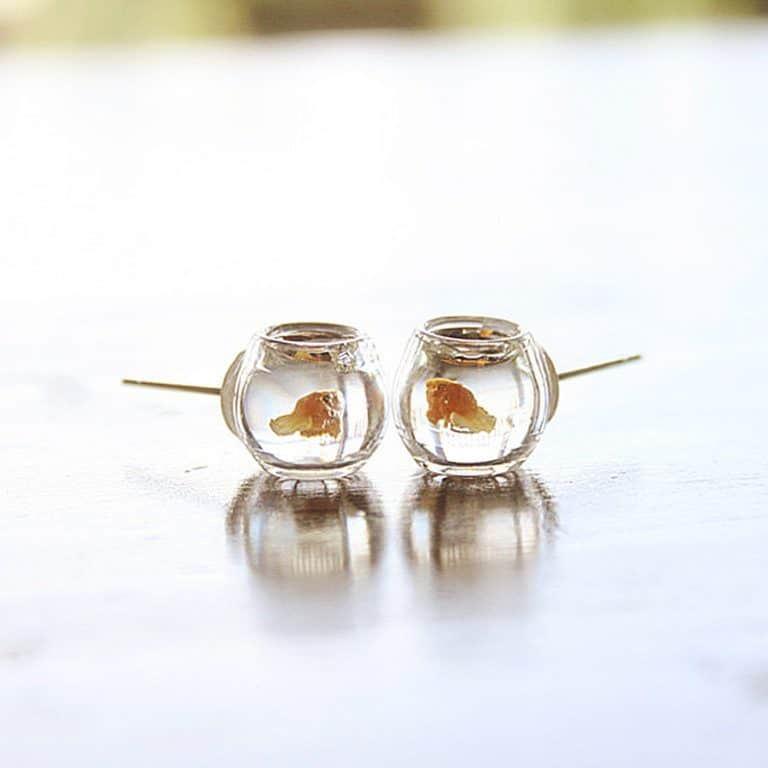 Le Petite Bonbon Goldfish In A Bowl Earrings Accessory