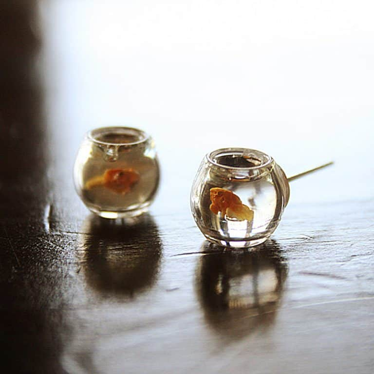 Le Petite Bonbon Goldfish In A Bowl Earrings Earring