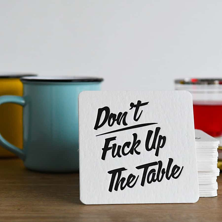 Coasters your guests will actually use.