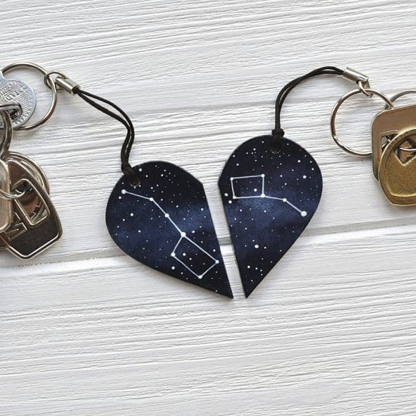 Magic Twirl Big dipper + Little dipper Keychains Hand Painted