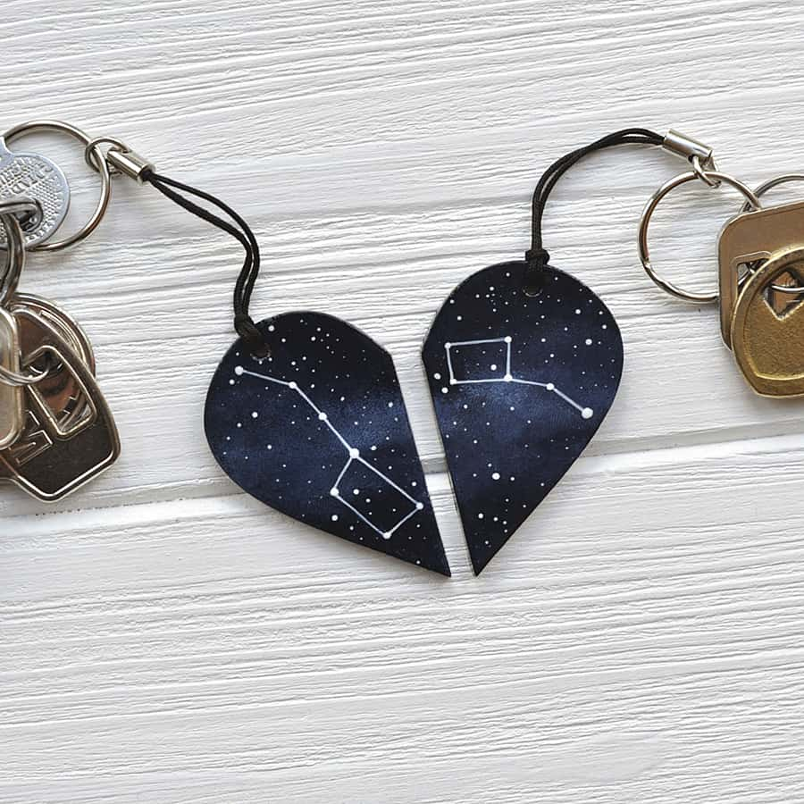 Astronomy and romance in a keychain.