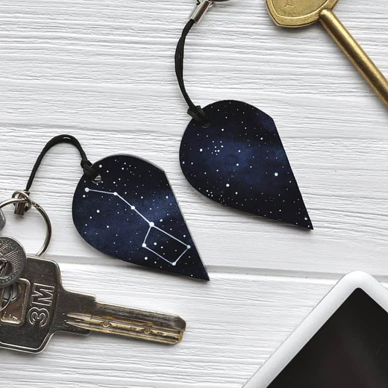 Magic Twirl Big dipper + Little dipper Keychains Stars