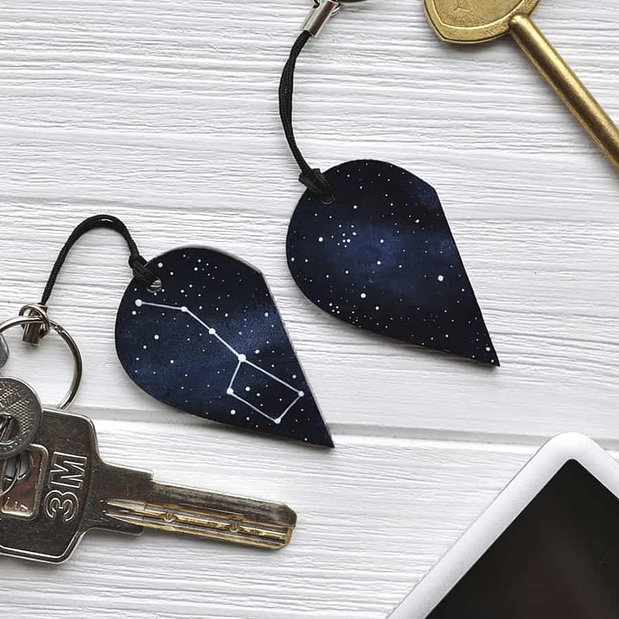 Magic Twirl Big dipper + Little dipper Keychains Stars
