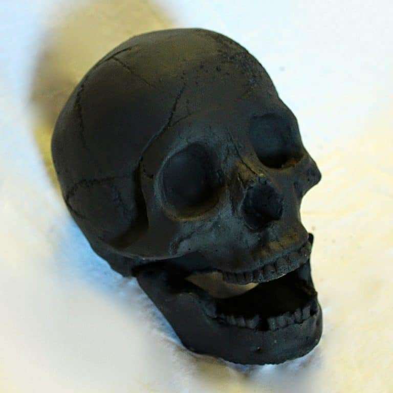 Myard Deluxe Human Skull Gas Logs Handmade