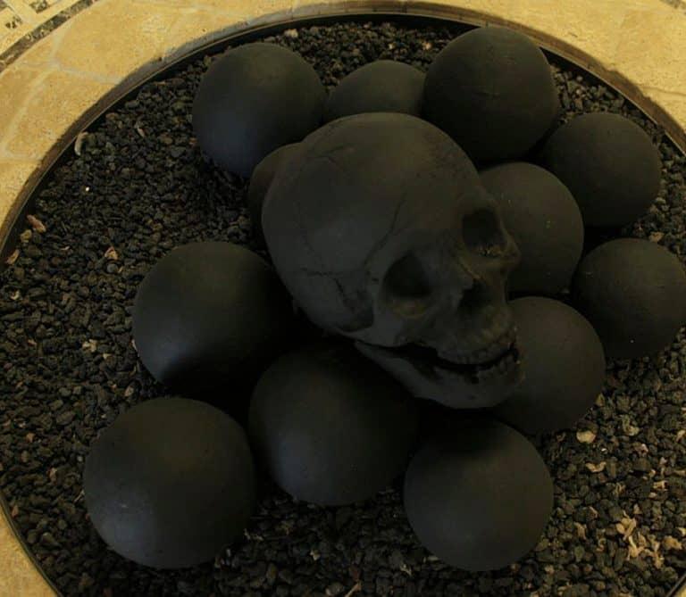 Myard Deluxe Human Skull Gas Logs Handwork