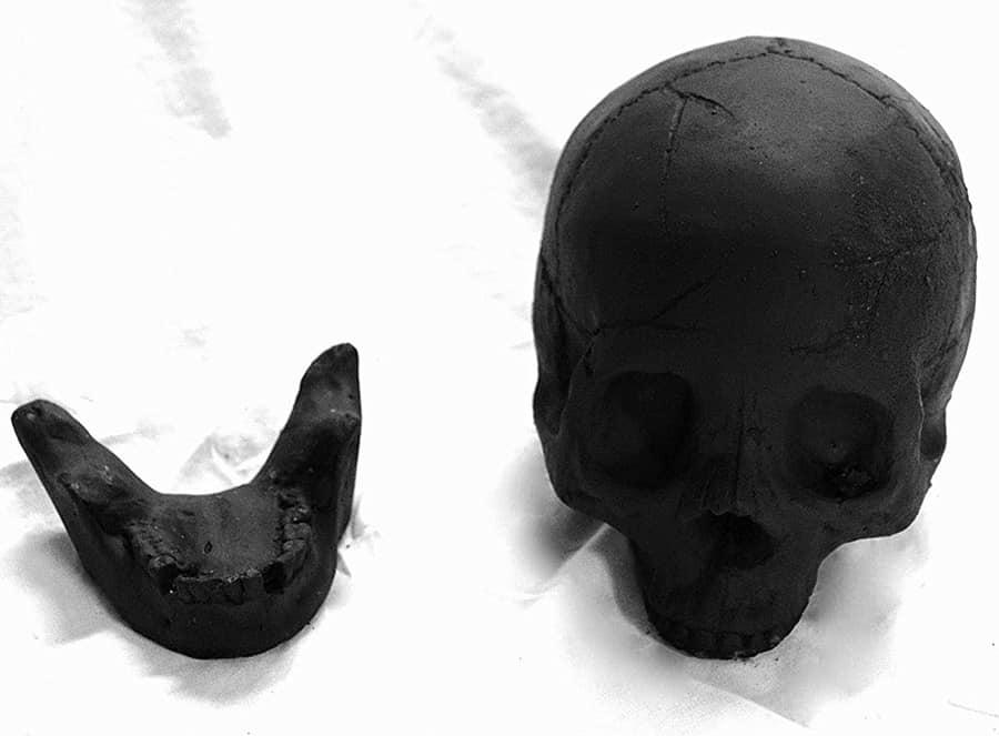 Myard Deluxe Human Skull Gas Logs Novelties