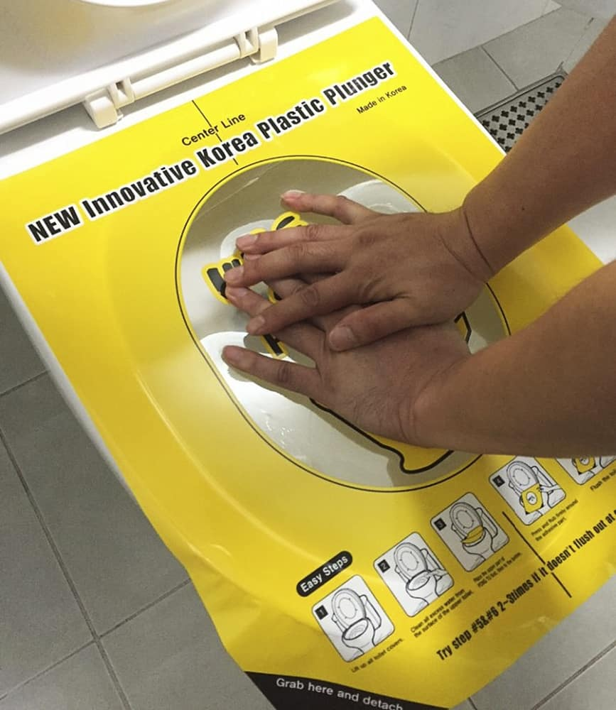 Clean your toilet with a sticker instead!