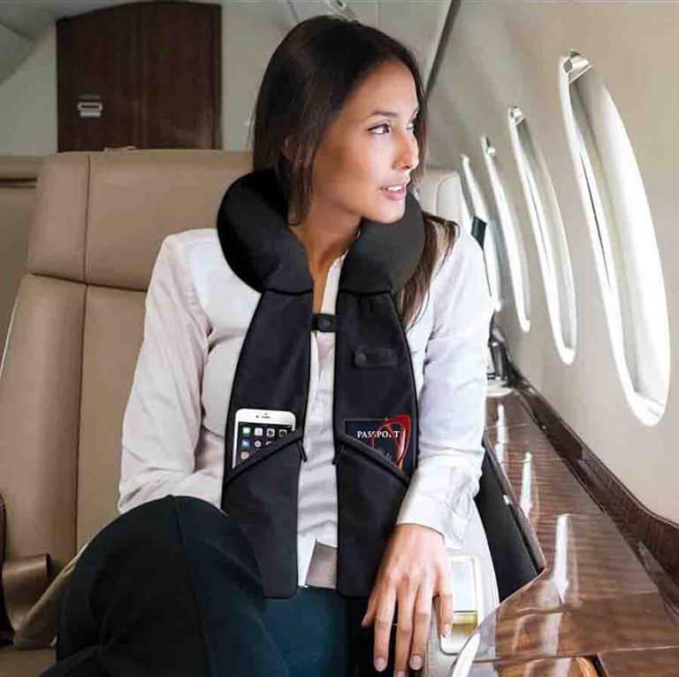 PurseN Travel Pillow Organizer In-Flight Accessory