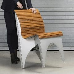 Shape-shifting, space-saving, stylish chair.