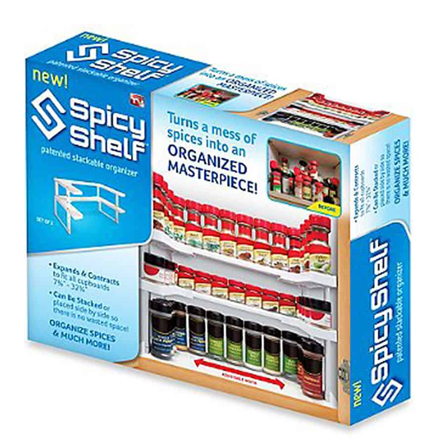 Spicy Shelf Patented Spice Rack and Stackable Organizer Kitchen Items