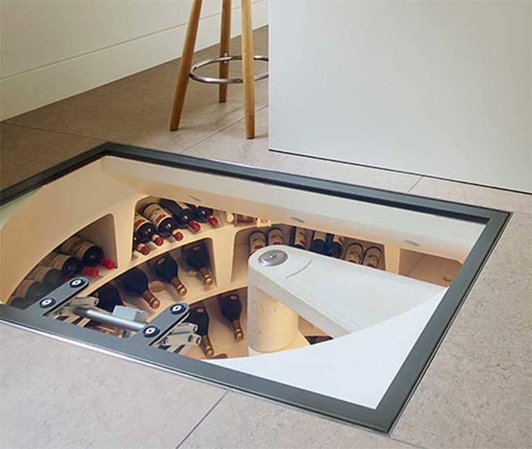 Spiral Cellars Retractable Glass Door