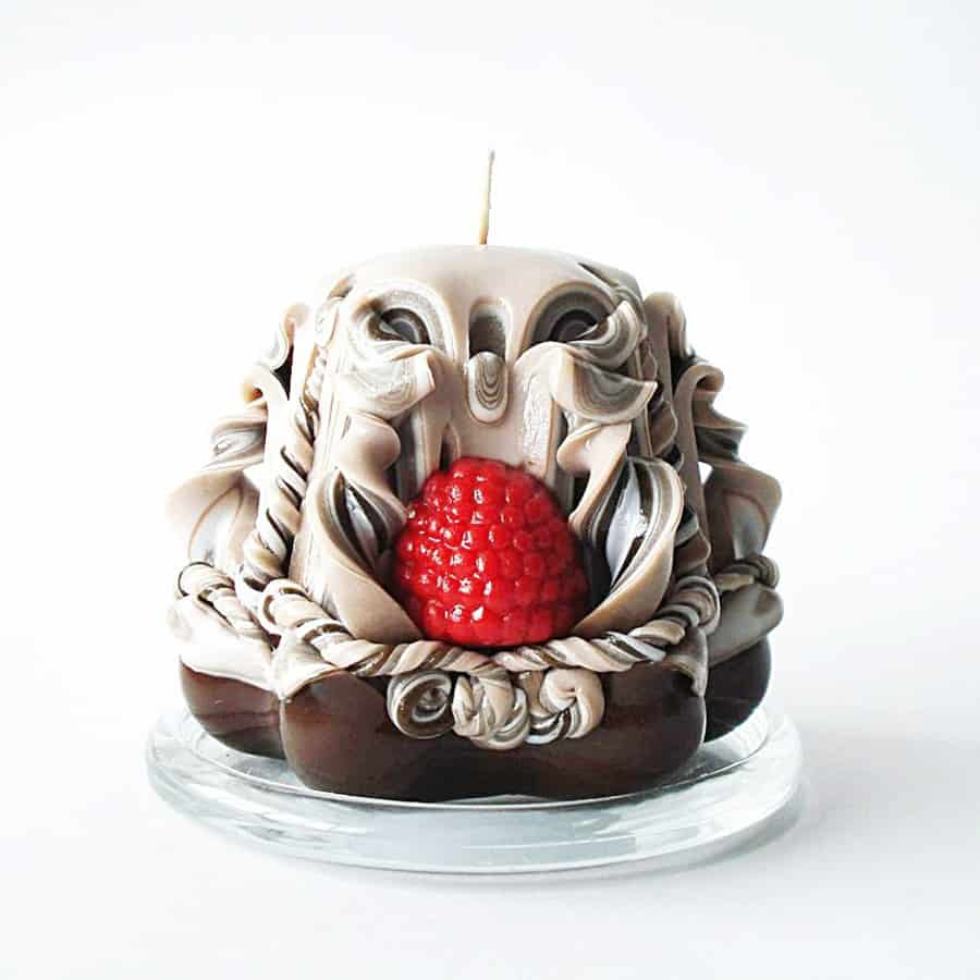 Storycandle Carved Candle Dessert handmade Items