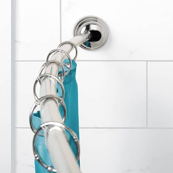 zenna home neverrust aluminum tension curved shower curtain rod noveltystreet. Black Bedroom Furniture Sets. Home Design Ideas