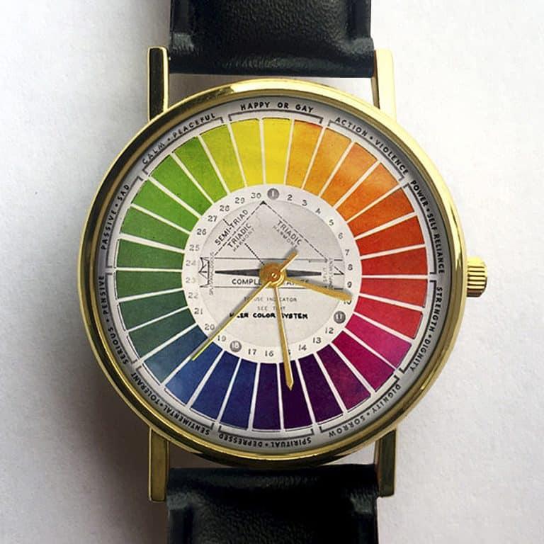 10 North Creative Vintage Color Wheel Watch Analog