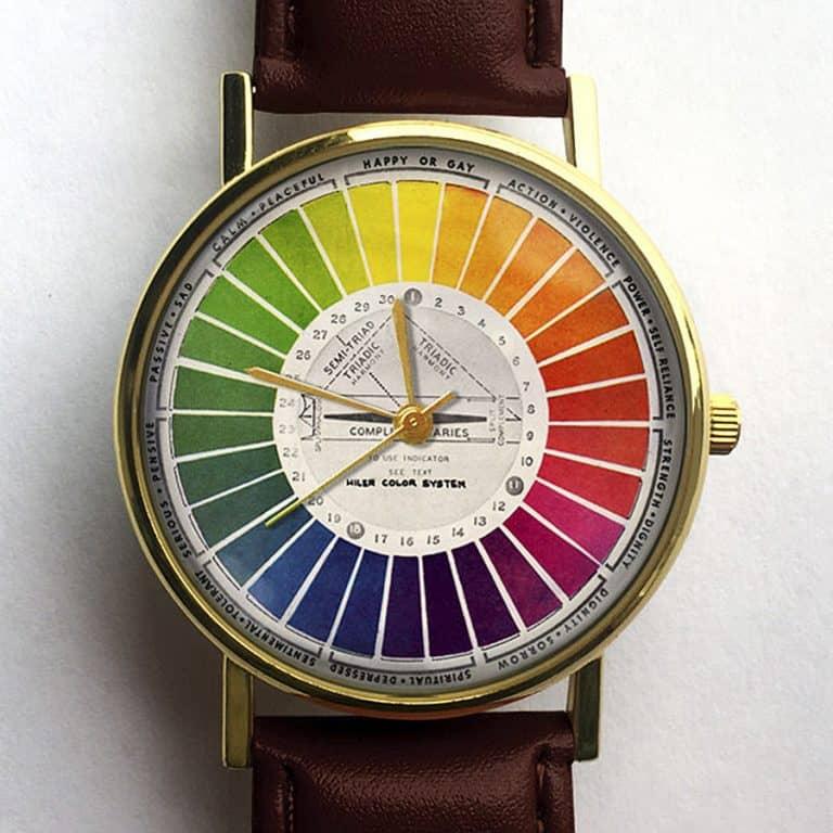 10 North Creative Vintage Color Wheel Watch Handmade