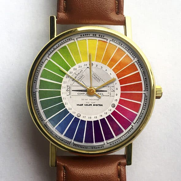 10 North Creative Vintage Color Wheel Watch Quartz