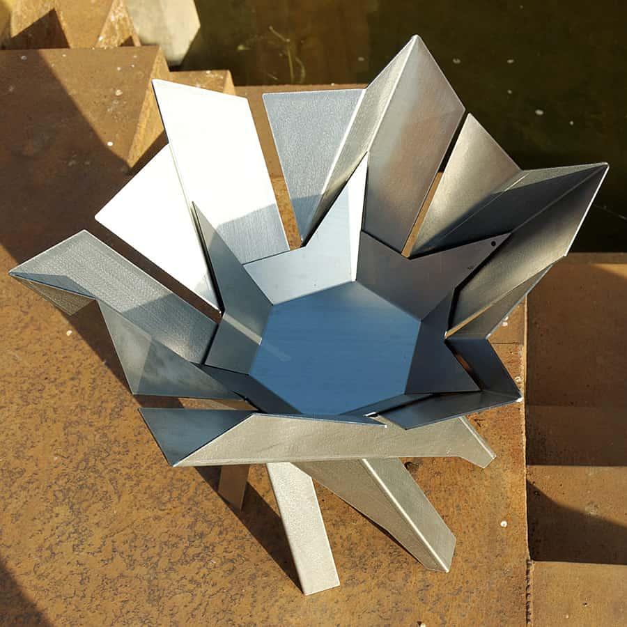 Arpe Studio Phoenix Flower Steel Fire Pit Handmade