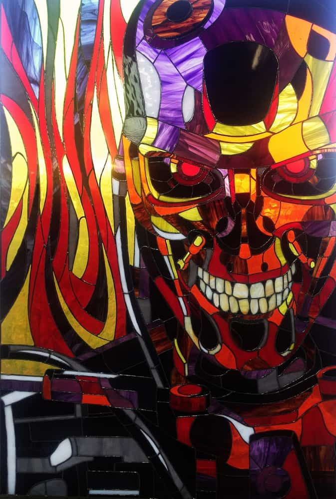 Art Brothers Terminator T-800 Stained Glass Picture Decoration