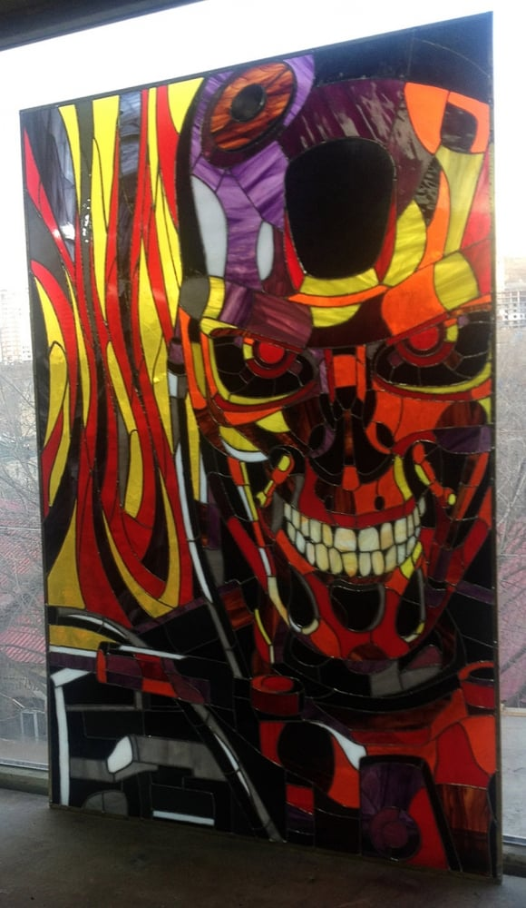 Art Brothers Terminator T-800 Stained Glass Picture Home Display