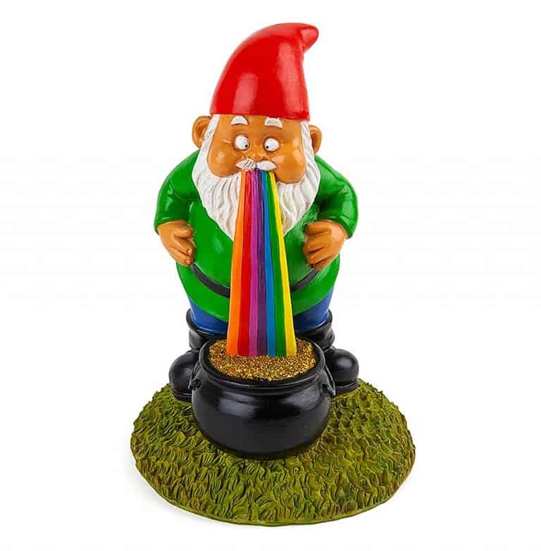 BigMouth Inc Lucky Rainbow Garden Gnome Yard Display