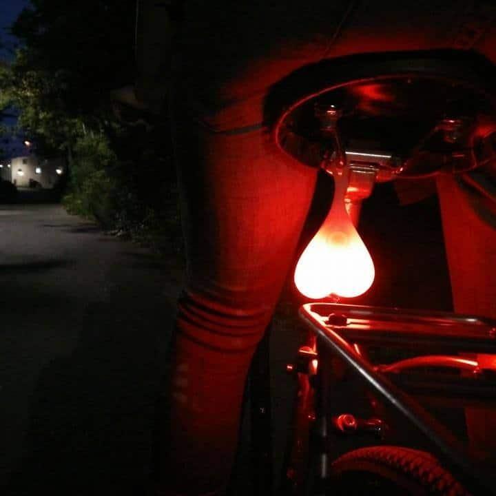Bike Balls Tail Light Funny Biker Gift Idea