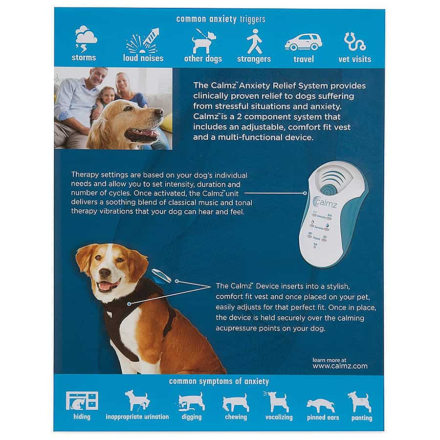 Calmz Anxiety Relief System for Dogs NeuroSync Technology