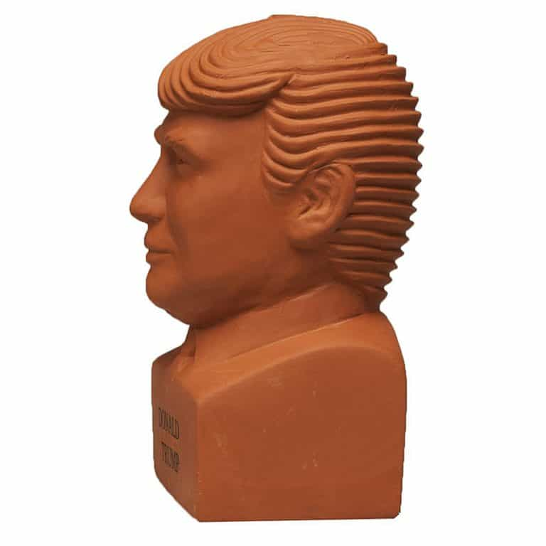 Chia Donald Trump Freedom of Choice Pottery Planter Lawn Decoration