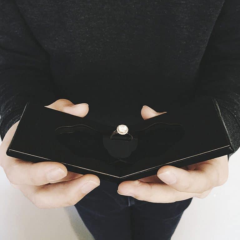 Clifton Slim Engagement Ring Case Novelty Item