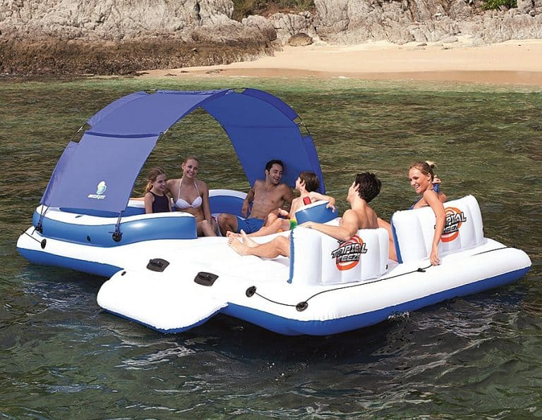 CoolerZ Tropical Breeze Inflatable Floating Island 5 Seater