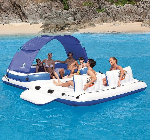 CoolerZ Tropical Breeze Inflatable Floating Island Outdoor Activity