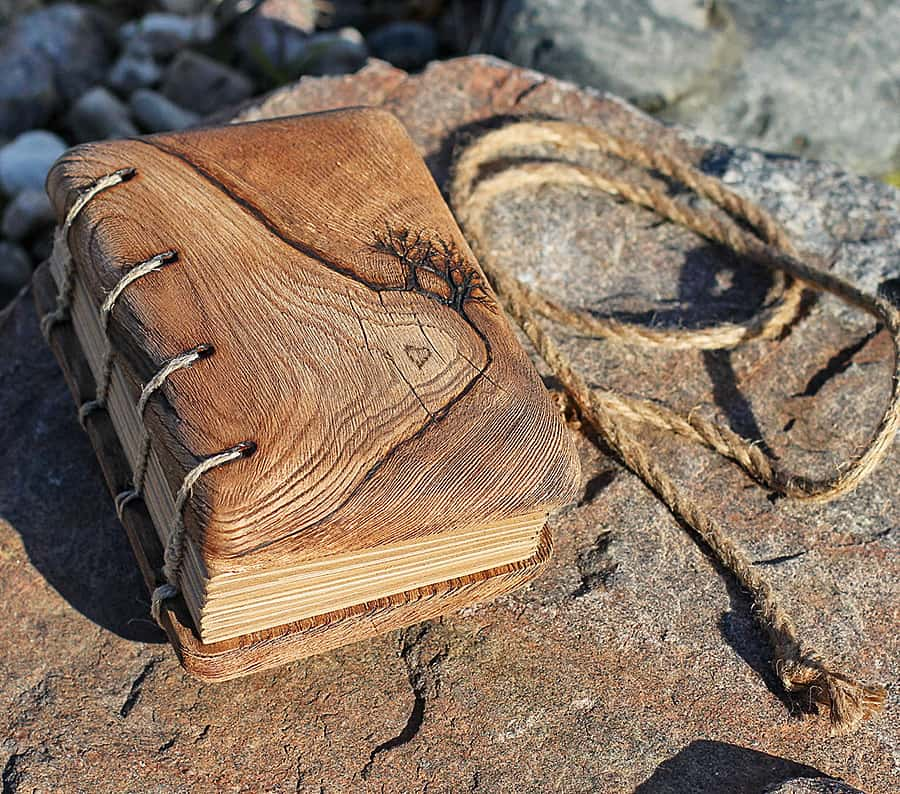 Crearting Rustic Wood Wedding Guest Book Books