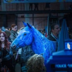 It's a blue horse!