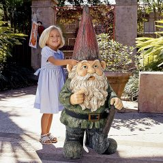 Bigger gnome means better garden.