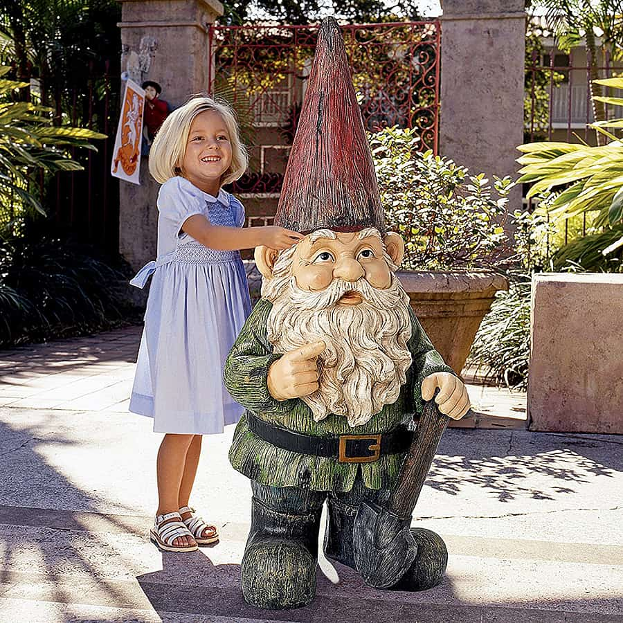 Bigger gnome means better garden.