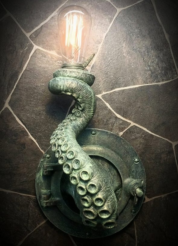 EpochCreations Tentacle Porthole Lamp Handmade Item