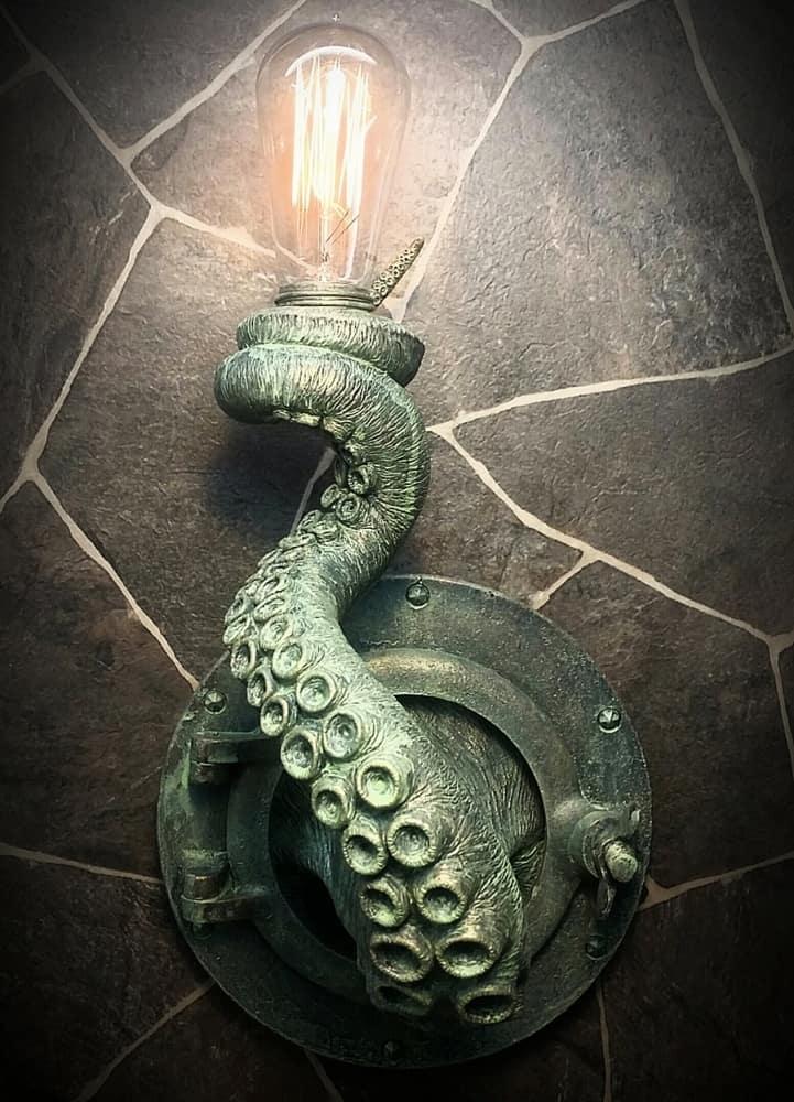 EpochCreations Tentacle Porthole Lamp Handmade Item