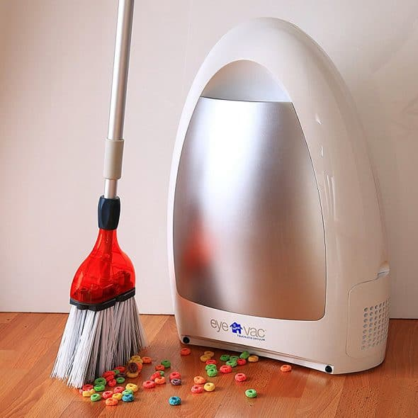 This vacuums so you don't have to.