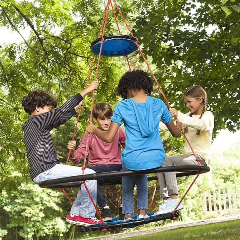 HearthSong Vortex Spinning Ring Swing Outdoor Play Toys