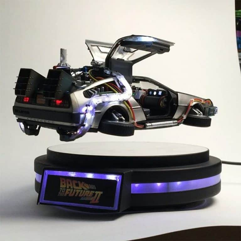 Kids Logic 120 Magnetic Floating DeLorean Time Machine Levitating