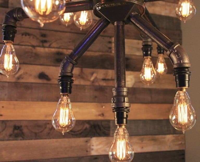 Light Arted Vintage Wide Black Iron Pipe 19 Light Chandelier Made to Order