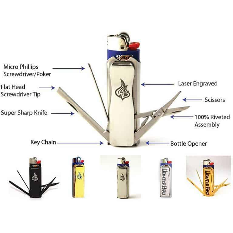 LighterBro Multi-tool Lighter Sleeve Survival Kit