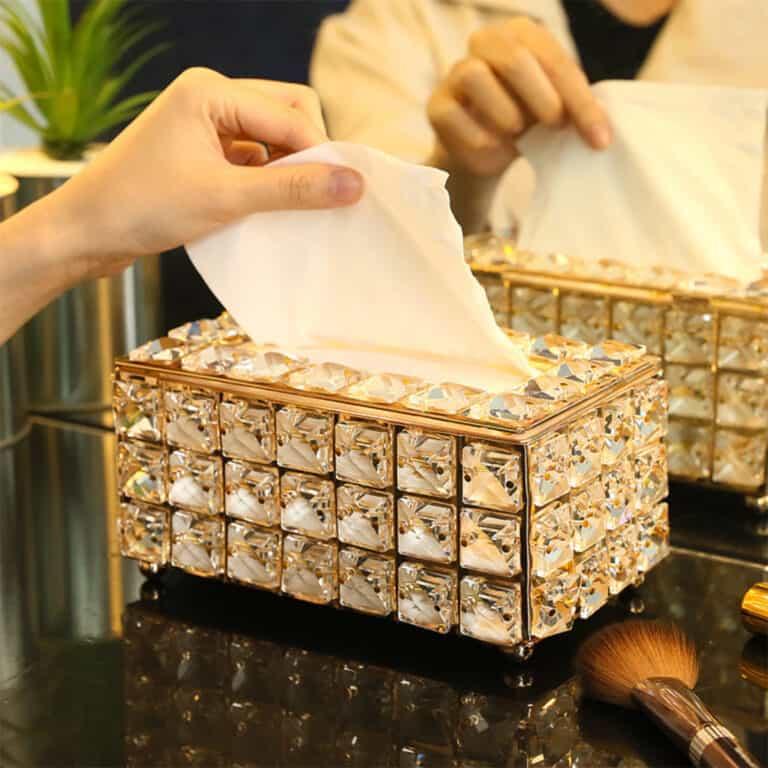 Luxury Rhinestone Tissue Box Holder Fancy Housewarming Gift
