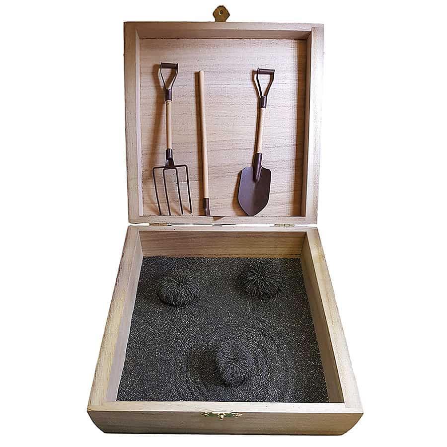 MagZen Magnetic Zen Garden Kit Polished Hematite Magnet Rocks