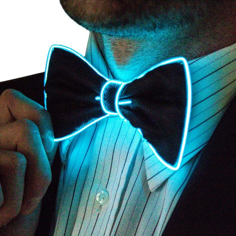Neon Nightlife Light Up Bow Tie Accessory